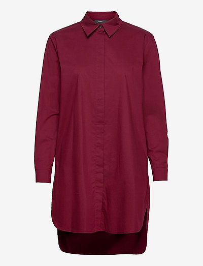 Blouses woven - tunikaer - bordeaux red