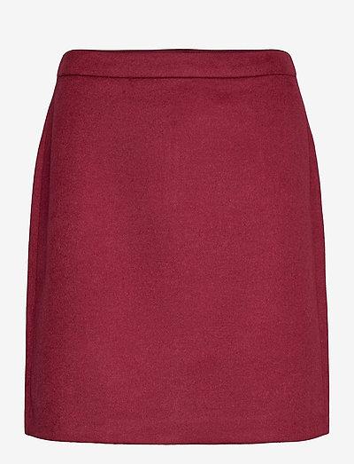 Skirts woven - korte nederdele - bordeaux red