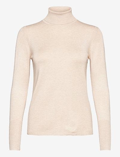 Sweaters - rullekraver - sand 5