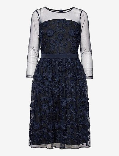 Dresses knitted - cocktailkjoler - navy