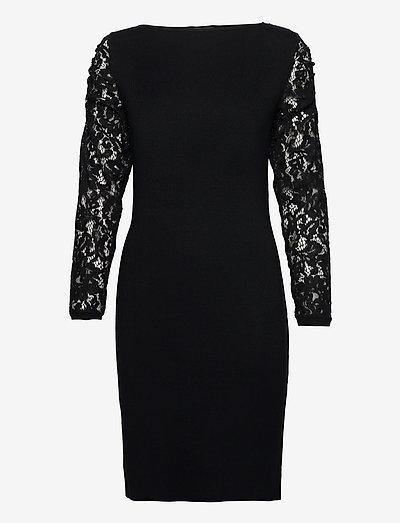 Dresses flat knitted - sommerkjoler - black