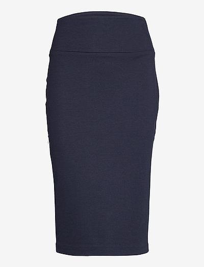 Skirts woven - midinederdele - navy