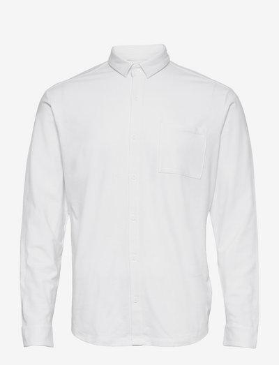 Shirts knitted - hørskjorter - white