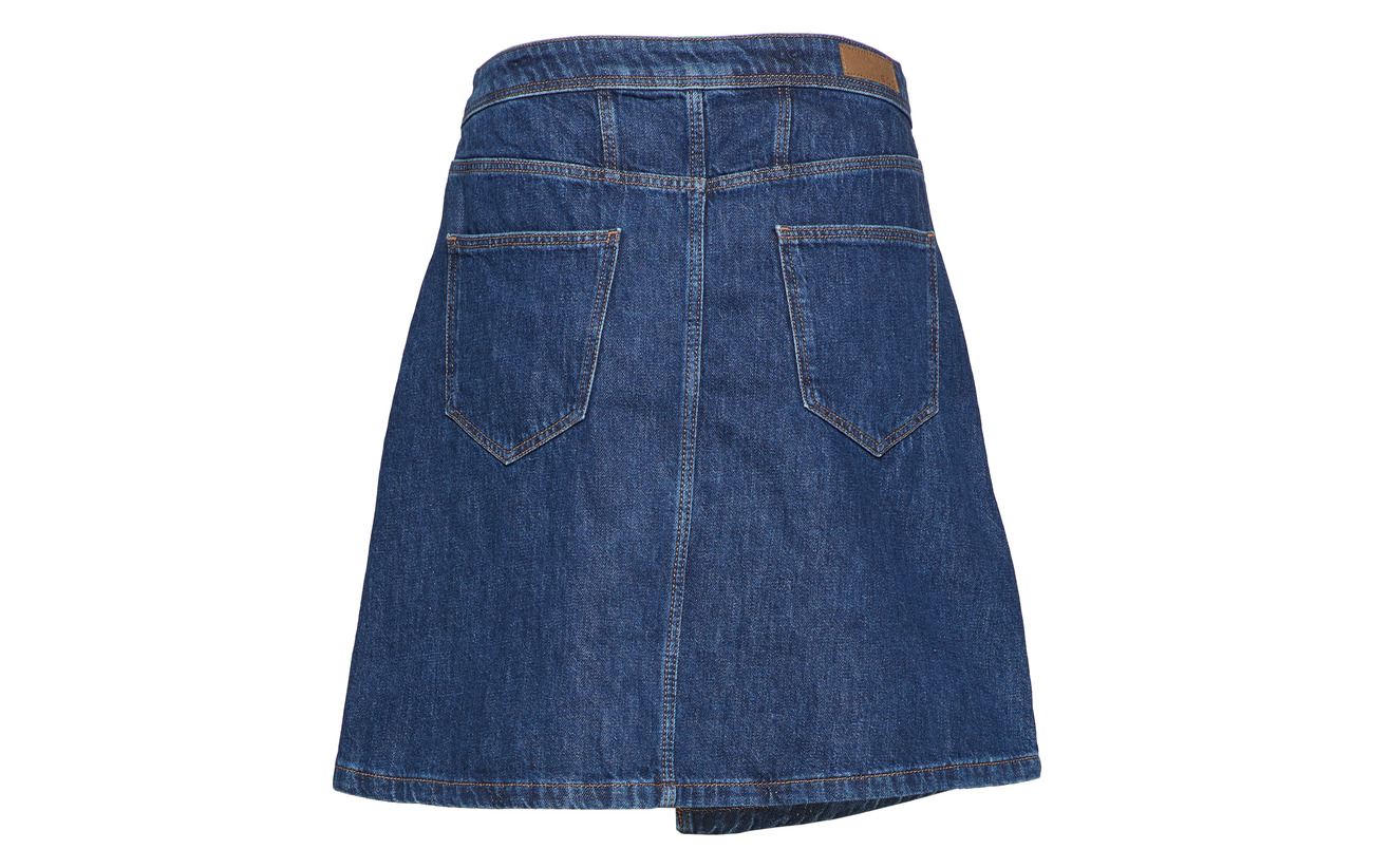 100 Blue Esprit Medium By Skirts Wash Denim Coton Edc awq0PAxx