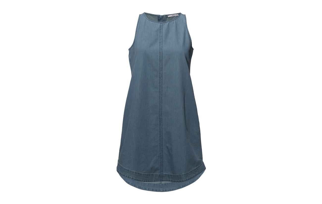 Edc Coton 100 Dresses By Woven Light Blue Esprit Arf0SxA