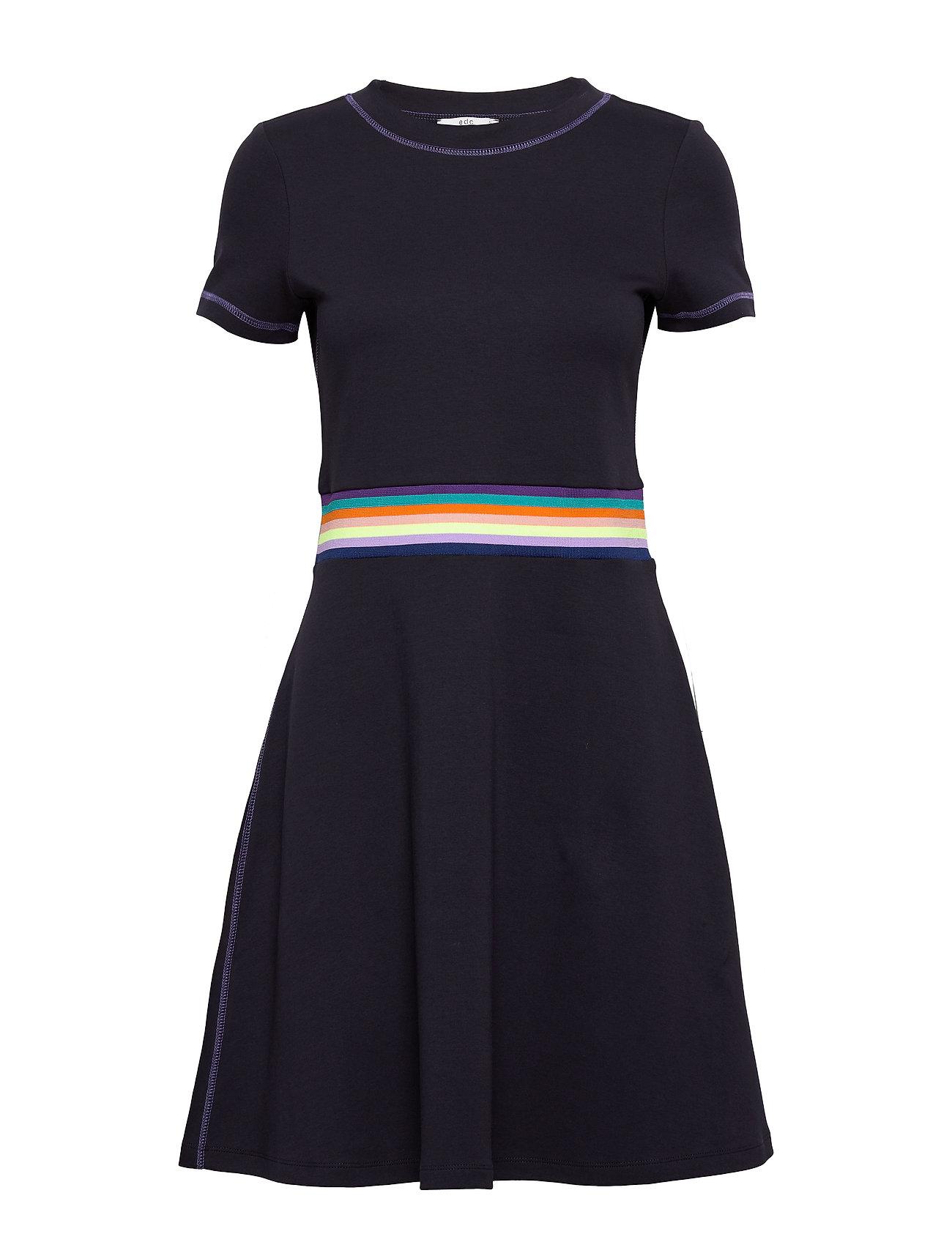 Image of Dresses Knitted Knælang Kjole Blå EDC By Esprit (3335351443)