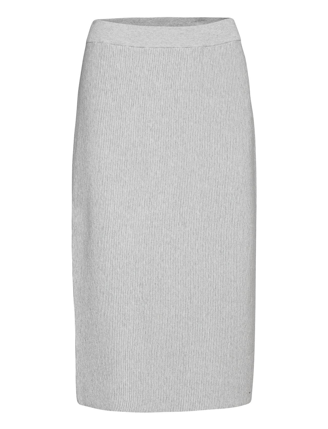 Image of Skirts Knitted Knælang Nederdel Grå EDC By Esprit (3455223493)