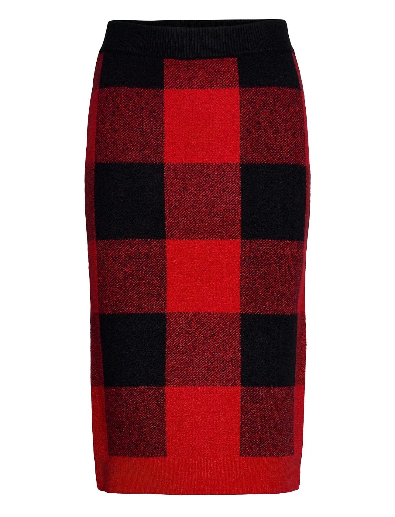 Image of Skirts Knitted Knælang Nederdel Rød EDC By Esprit (3456630295)