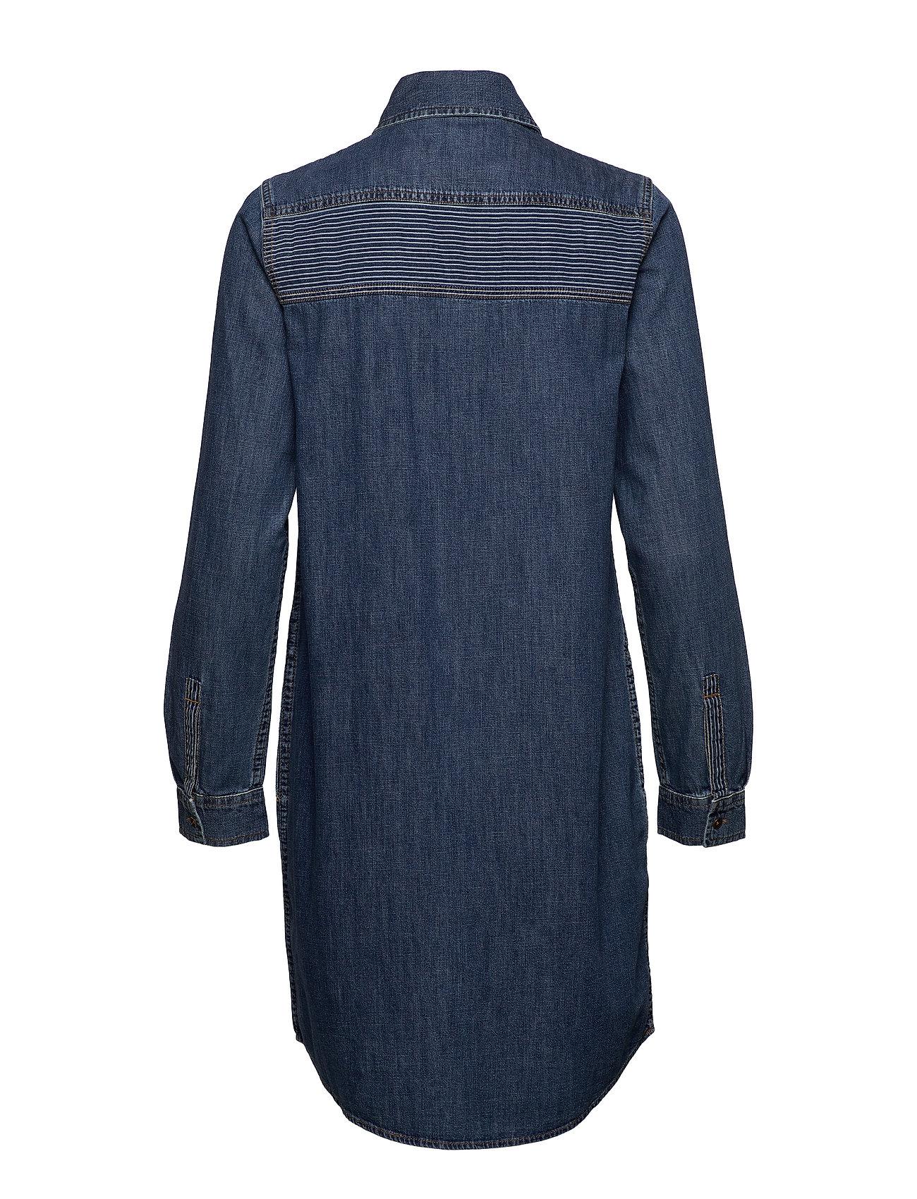 WashEdc By Esprit Dresses Denimblue Medium OPXTZiuwk