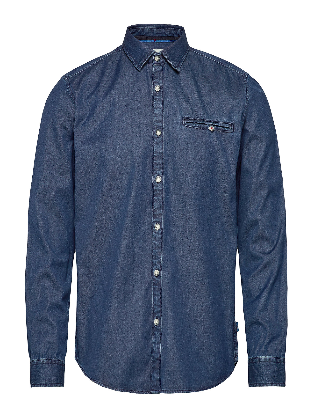 EDC by Esprit Shirts woven - BLUE MEDIUM WASH