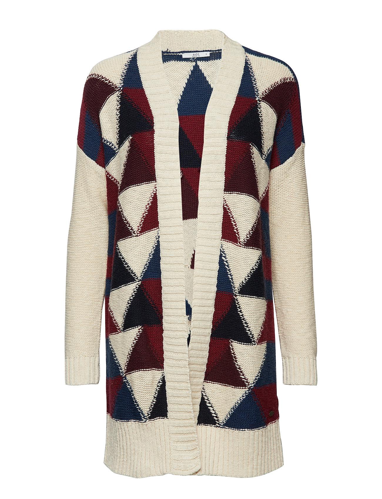 Image of Sweaters Cardigan Strikket Trøje Cardigan Multi/mønstret EDC BY ESPRIT (3099568373)