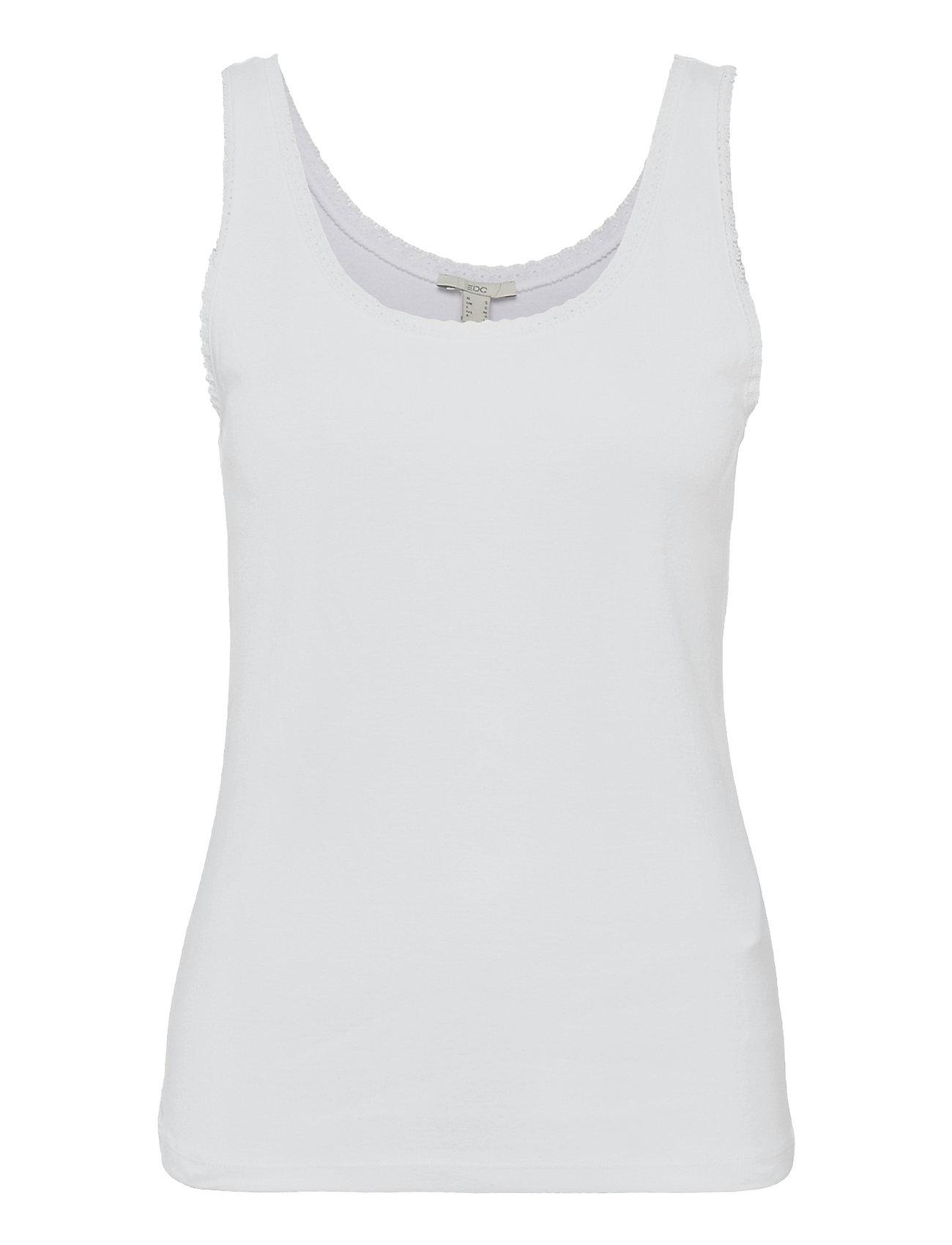 T-Shirts Top Ærmeløs Top Hvid EDC By Esprit