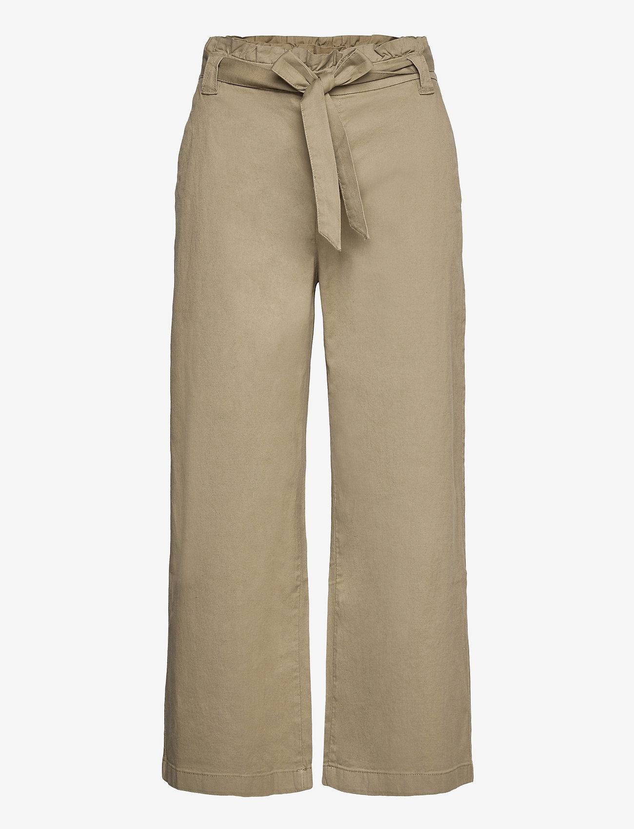 EDC by Esprit - Pants woven - bukser med brede ben - light khaki - 0
