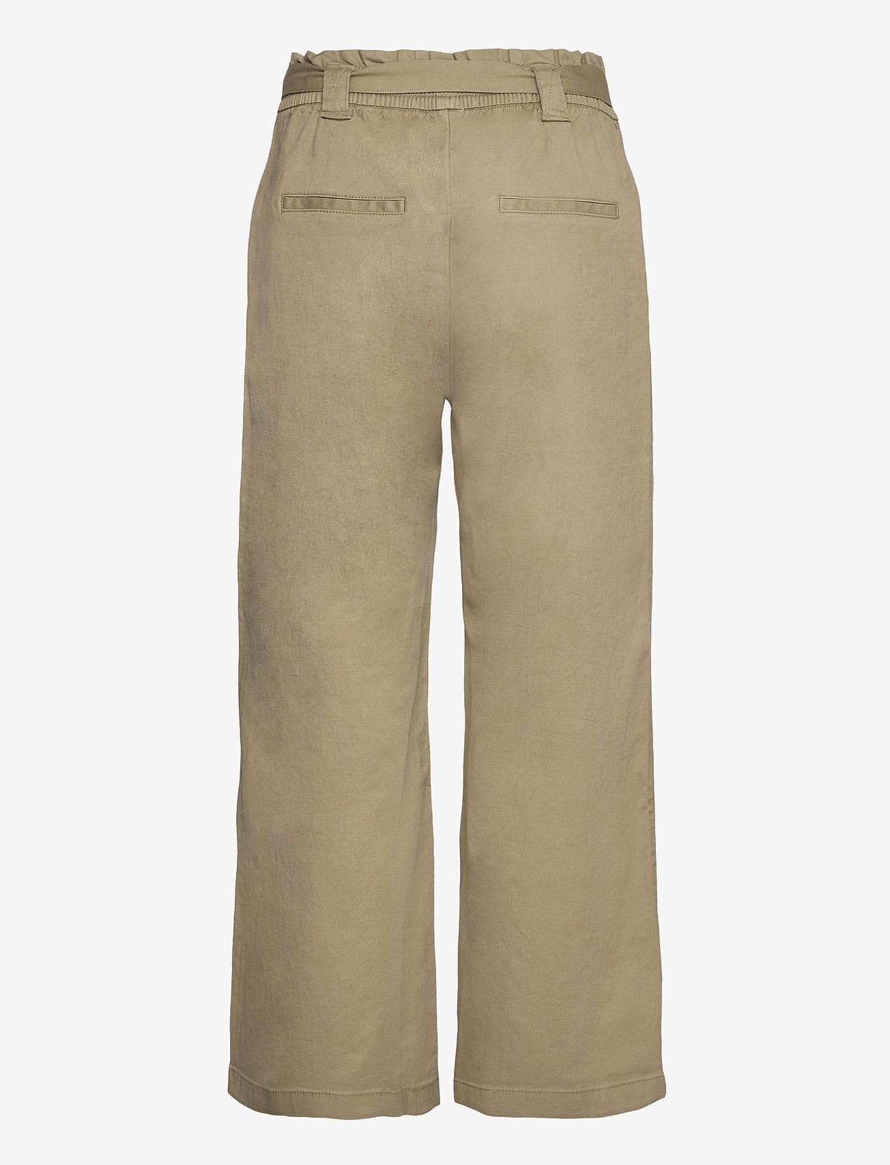 EDC by Esprit - Pants woven - bukser med brede ben - light khaki - 1