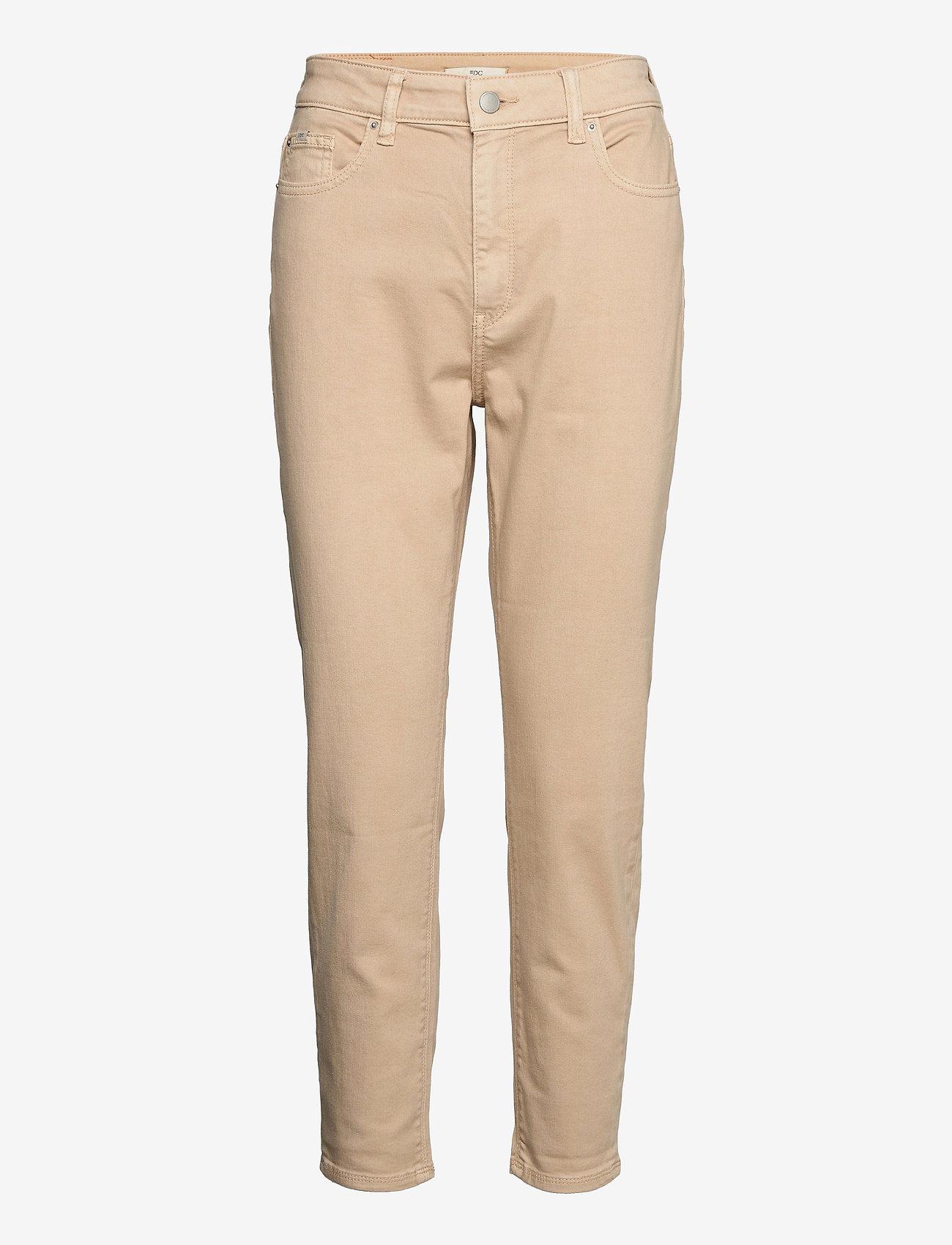 EDC by Esprit - Pants woven - straight regular - beige - 0