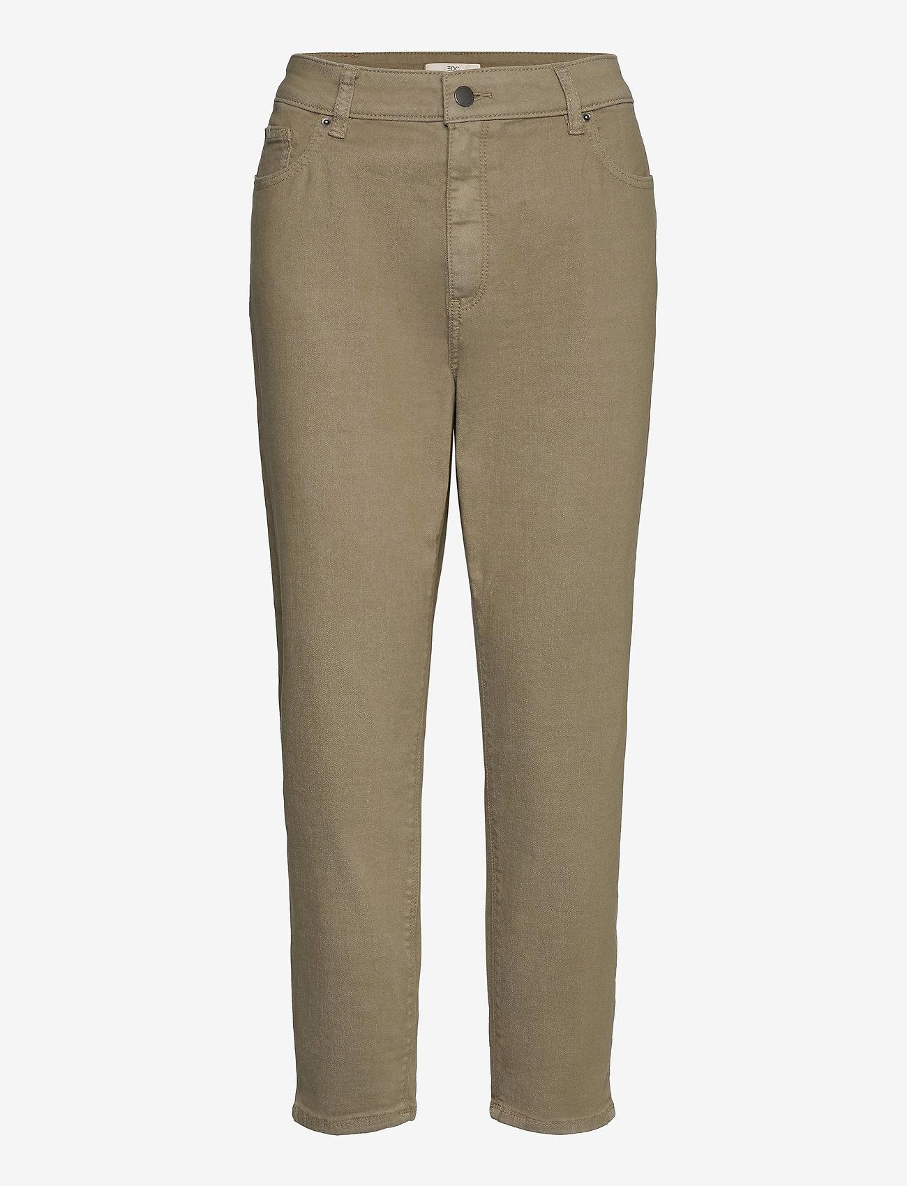 EDC by Esprit - Pants woven - straight regular - light khaki - 0