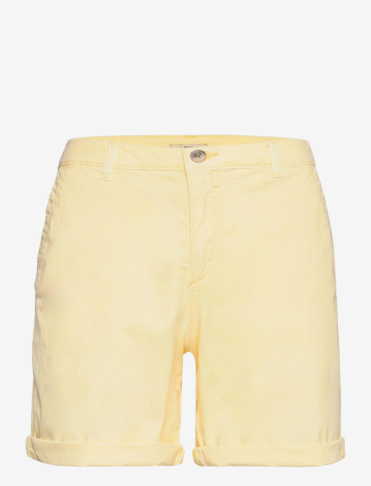 EDC by Esprit - Shorts woven - chino shorts - light yellow - 0