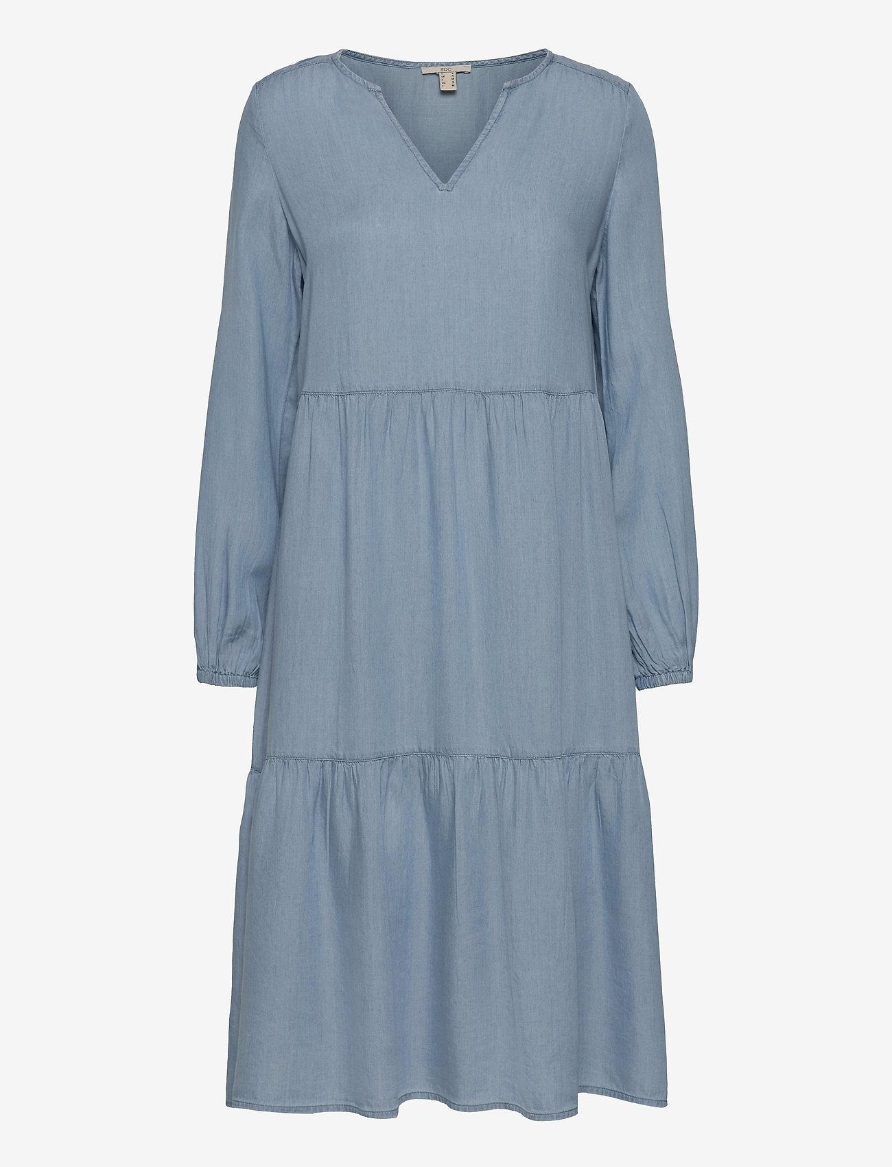 EDC by Esprit - Dresses denim - midi dresses - blue light wash - 0