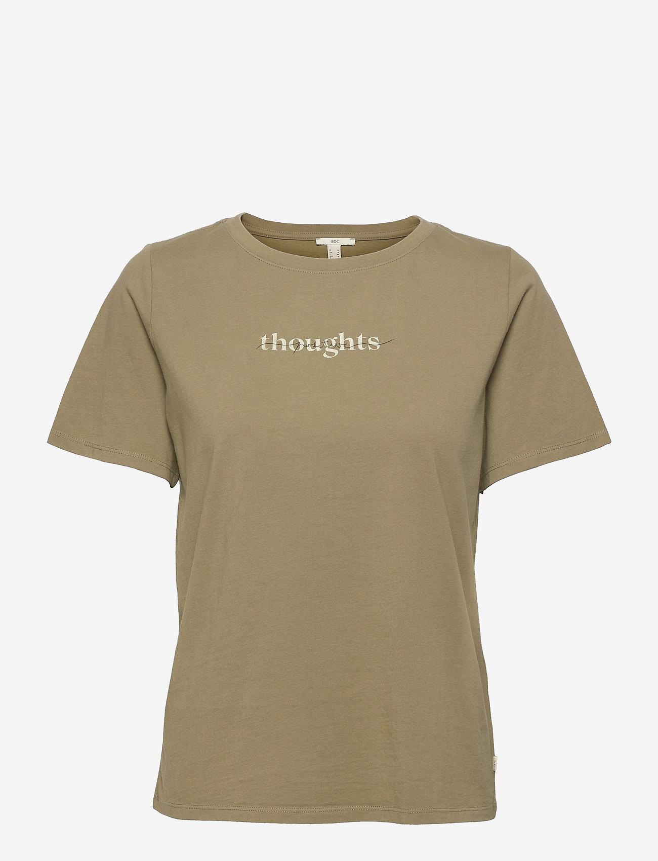 EDC by Esprit - T-Shirts - t-shirts - light khaki - 0