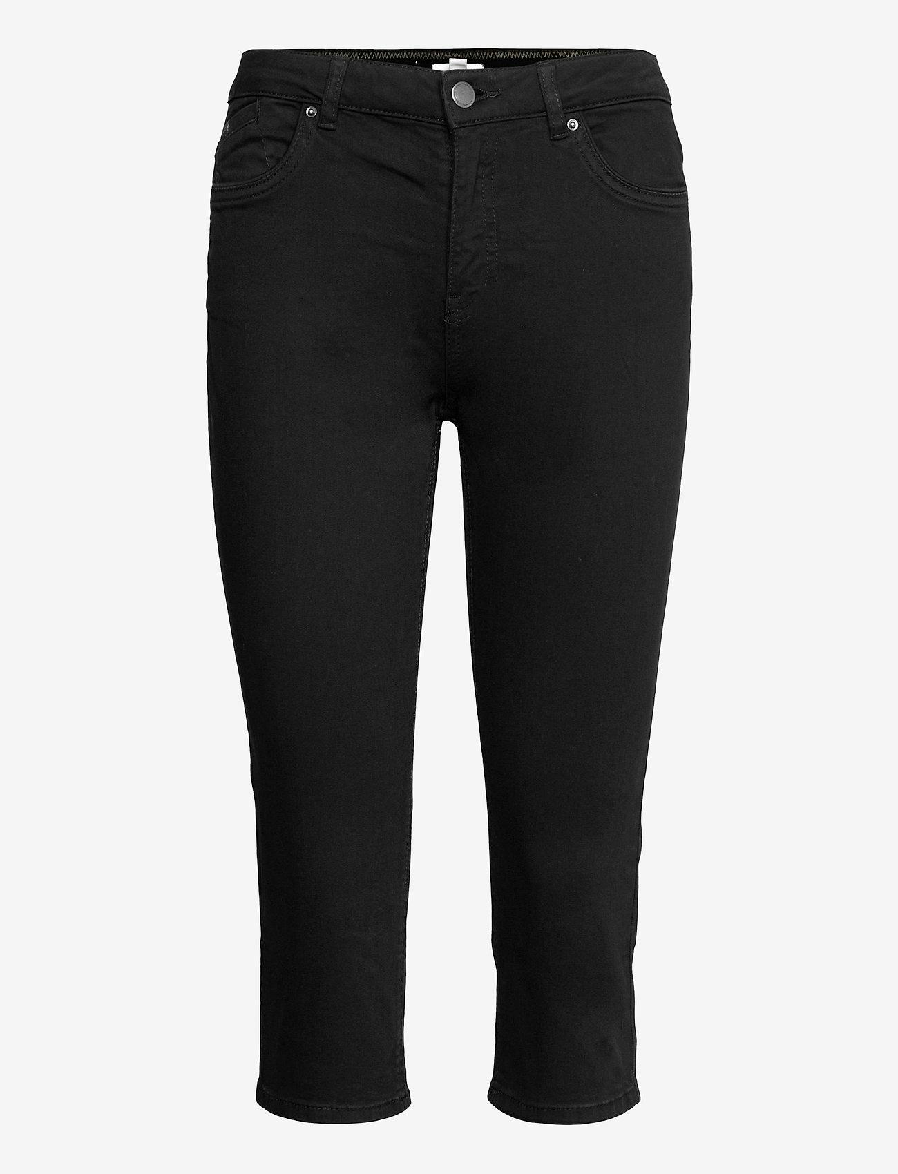 EDC by Esprit - Pants woven - pantalons capri - black - 0