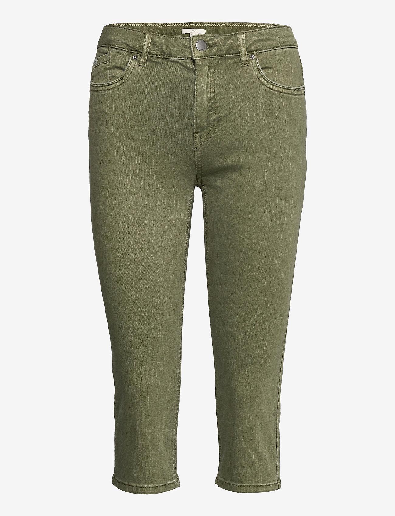 EDC by Esprit - Pants woven - pantalons capri - khaki green - 0