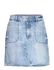 Skirts denim - BLUE BLEACHED