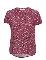 Blouses woven - PLUM RED