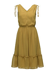 Dresses light woven - BRASS YELLOW