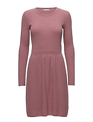 Dresses flat knitted - DARK OLD PINK