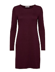 Dresses flat knitted - BORDEAUX RED