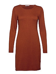 Dresses flat knitted - RUST BROWN 5