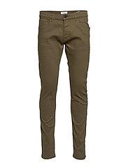 Pants woven - DARK KHAKI