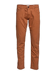 Pants woven - RUST BROWN