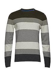 Sweaters - KHAKI GREEN