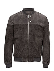 Jackets outdoor leather - GREY