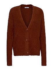 Sweaters cardigan - RUST BROWN 5