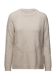 Sweaters - CREAM BEIGE