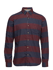 Shirts woven - BORDEAUX RED