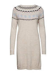 Dresses flat knitted - LIGHT TAUPE 5