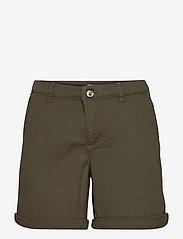 EDC by Esprit - Shorts woven - chino shorts - khaki green - 0