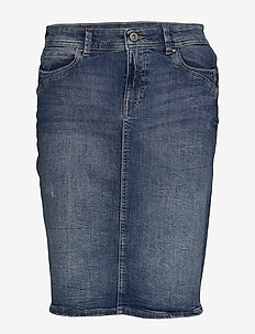 Skirts denim - jeansowe spódnice - blue dark wash
