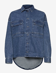 Blouses denim - denim shirts - blue medium wash