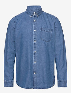 Shirts woven - denimskjorter - blue medium wash
