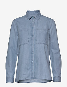 Blouses denim - denim shirts - blue light wash