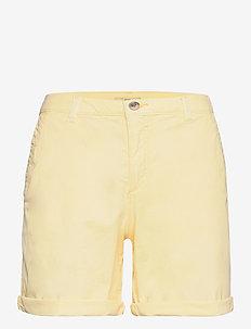 Shorts woven - chino shorts - light yellow
