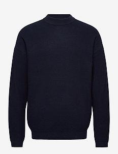 Sweaters - basic knitwear - navy