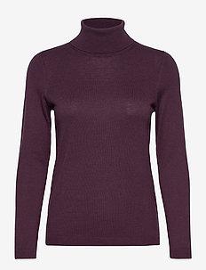 Sweaters - rollkragenpullover - aubergine