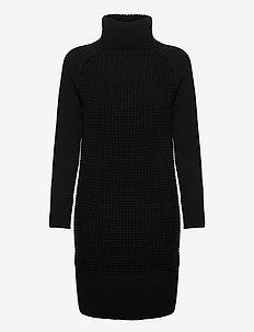 Dresses flat knitted - strikkjoler - black