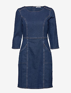 Dresses denim - BLUE DARK WASH