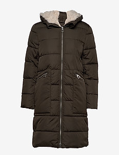 Coats woven - wyściełane płaszcze - dark khaki